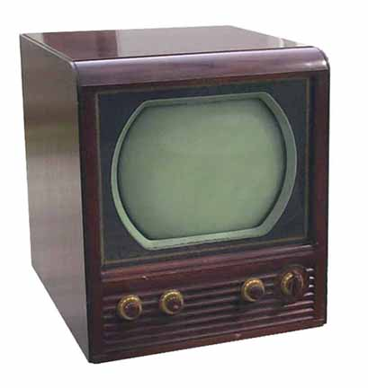black and white TV in